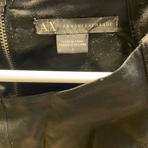 Black leather Armani exchange dress size 2